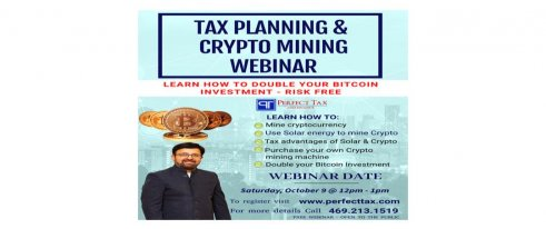 Tax Planing and Crypto Mining Webinar