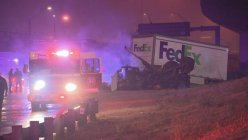 FedEx truck driver dies in a single-vehicle crash after going off Dallas highway