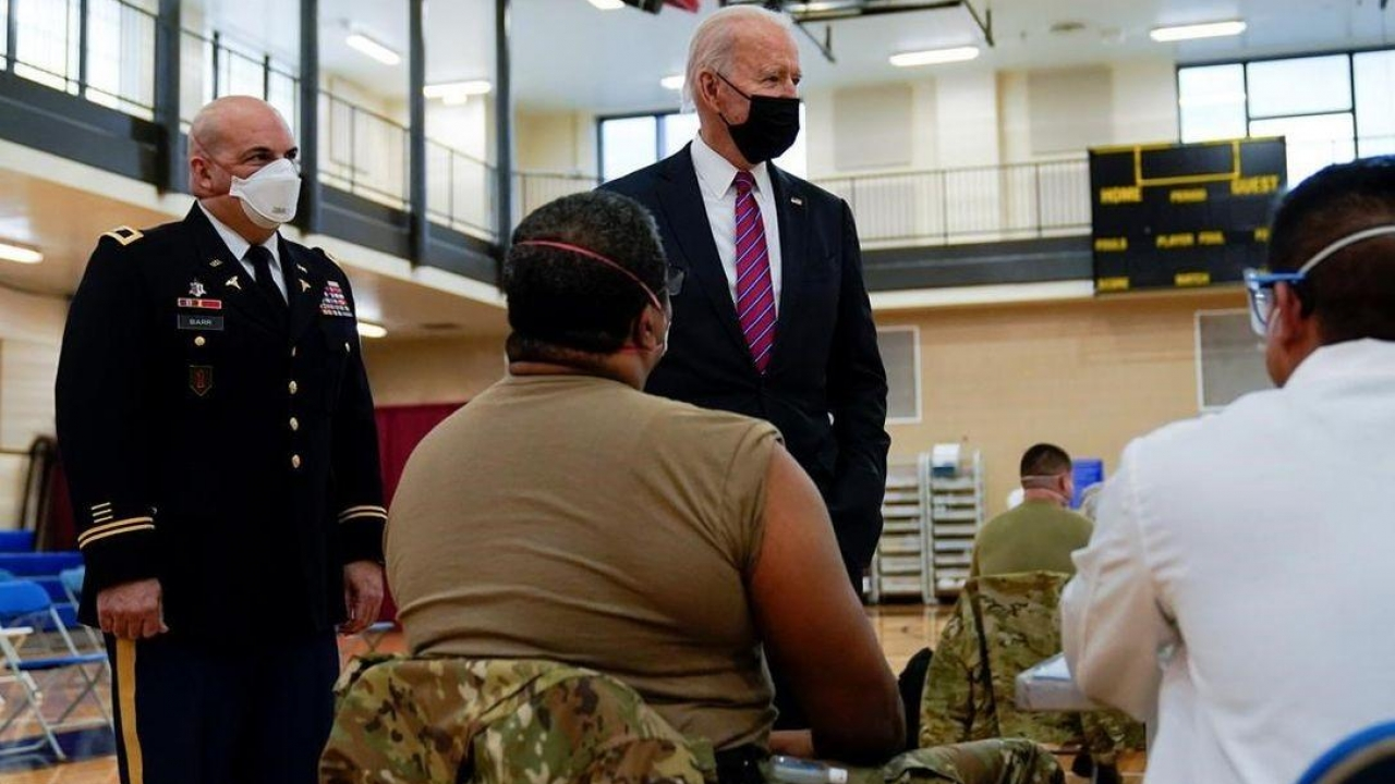 President Biden visits wounded soldiers at Walter Reed National Military Medical Center