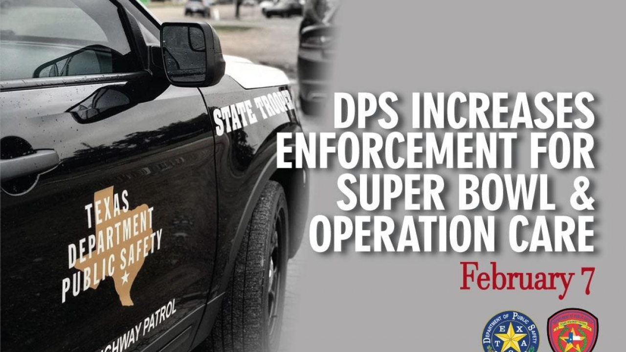 Texas DPS to increase patrols to celebrate Super Bowl Sunday responsibly