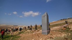 The appearance of Mysterious monolith near Turkish World Heritage site