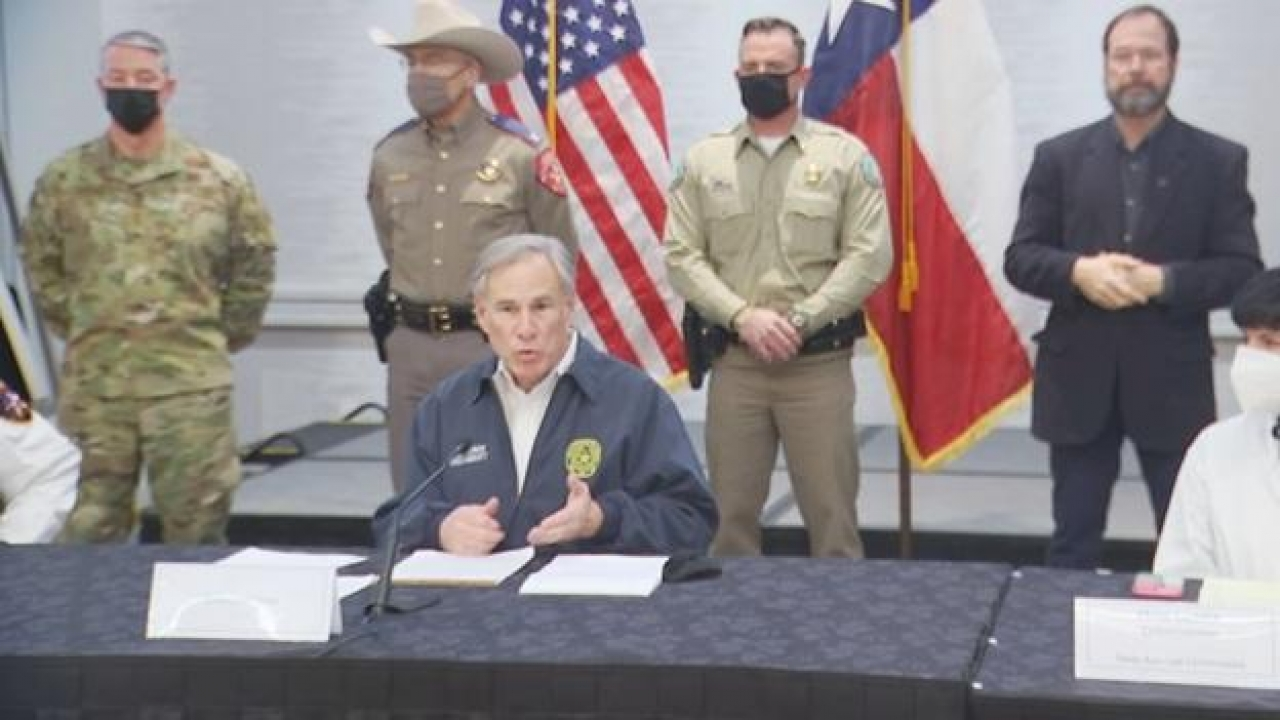 Governor Greg Abbott urged Texans to take the necessary precautions ahead of the winter storm
