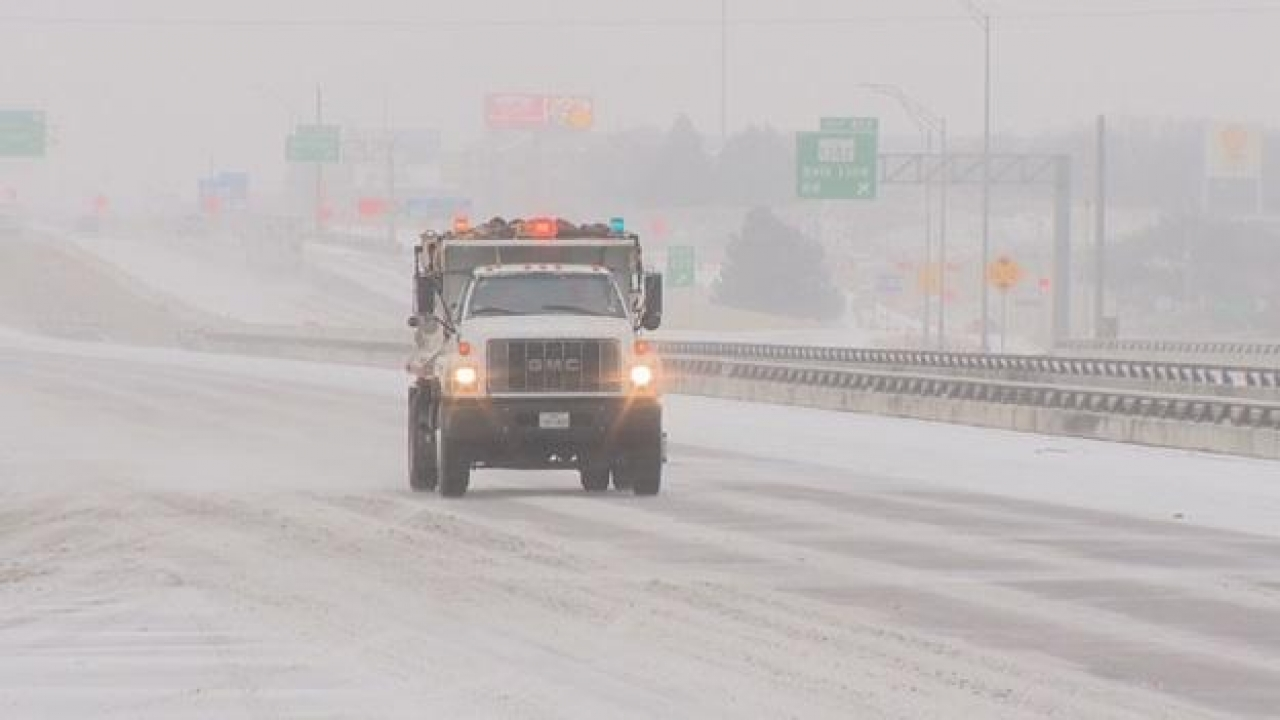 North Texas: Snowplows working to clear roadways, urges drivers to stay home if possible