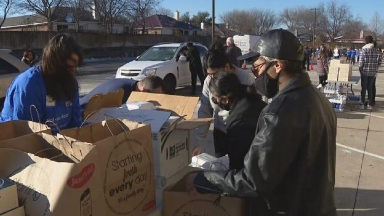 Fort Worth megachurch donating thousands of meals to North Texans struggling without power, clean water