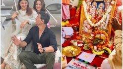 Akshay Kumar gives a glimpse of 'Mahurat pooja' as he begins shooting for 'Ram Setu'