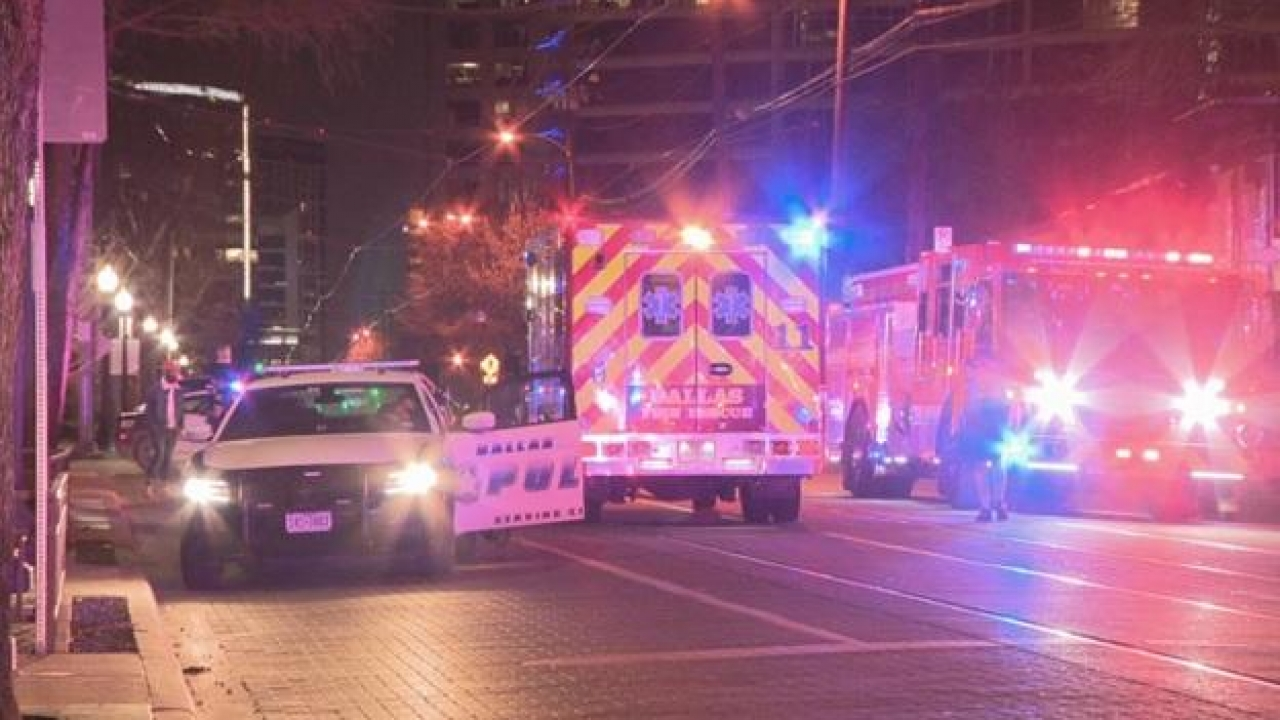 A woman killed after a car didn't stop after running over her in Uptown Dallas