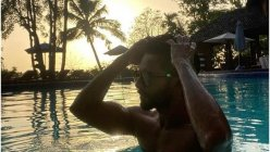 Shahid Kapoor takes a quick escape from the chaos for a pool day