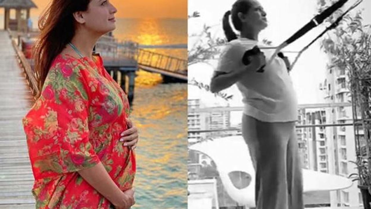 Mommy-to-be Dia Mirza shares her inspirational workout pics