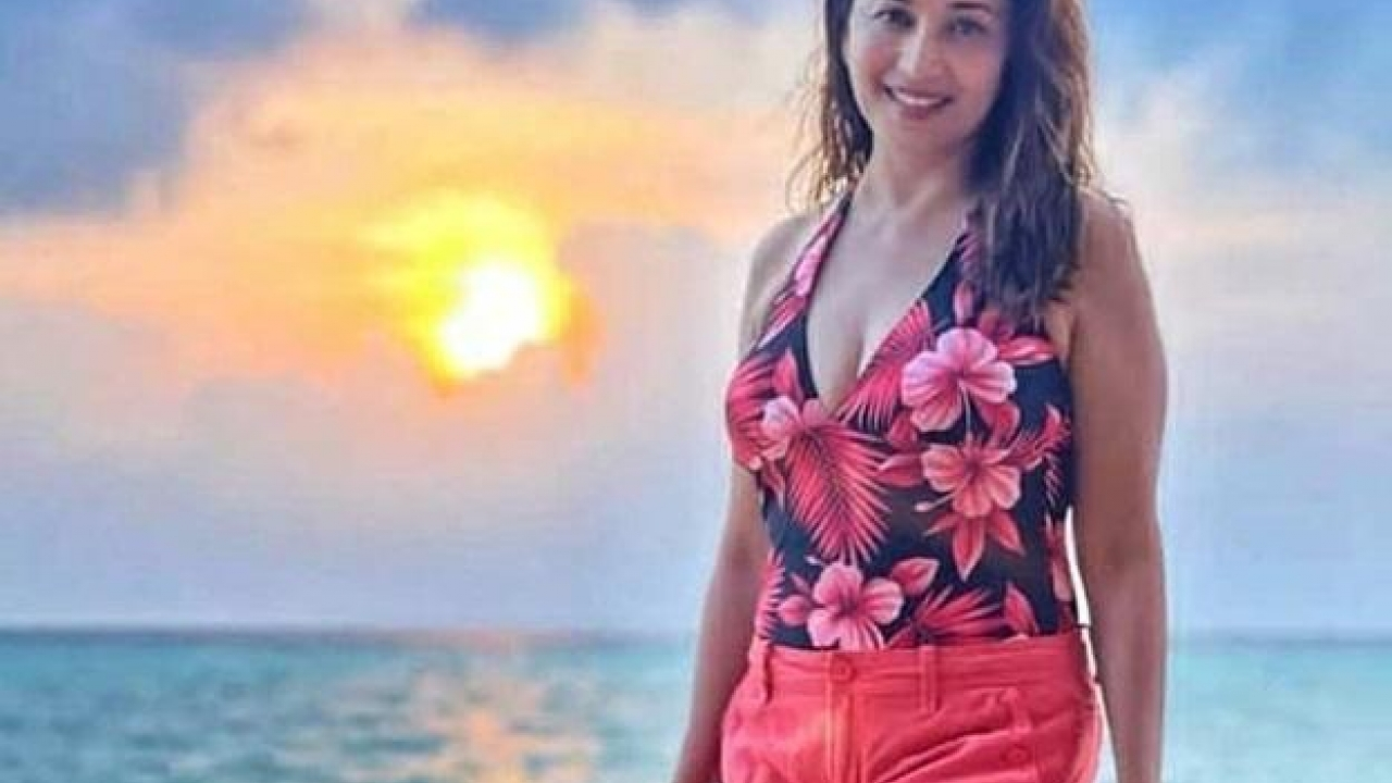 This picture of Madhuri Dixit from the Maldives is all things magical!