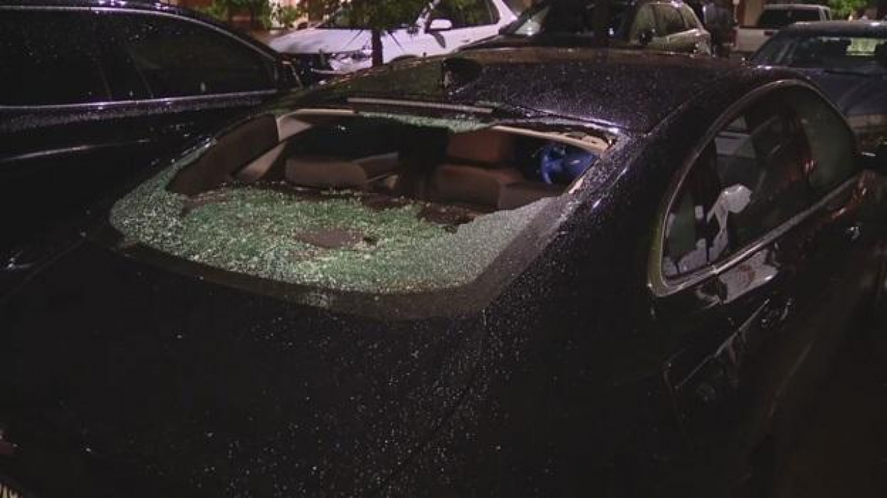 Wednesday night's severe weather brought large hail impacting parts of northern Tarrant County