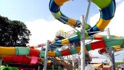 Six Flags Hurricane Harbor showed off a Four-story Banzai Pipeline slide