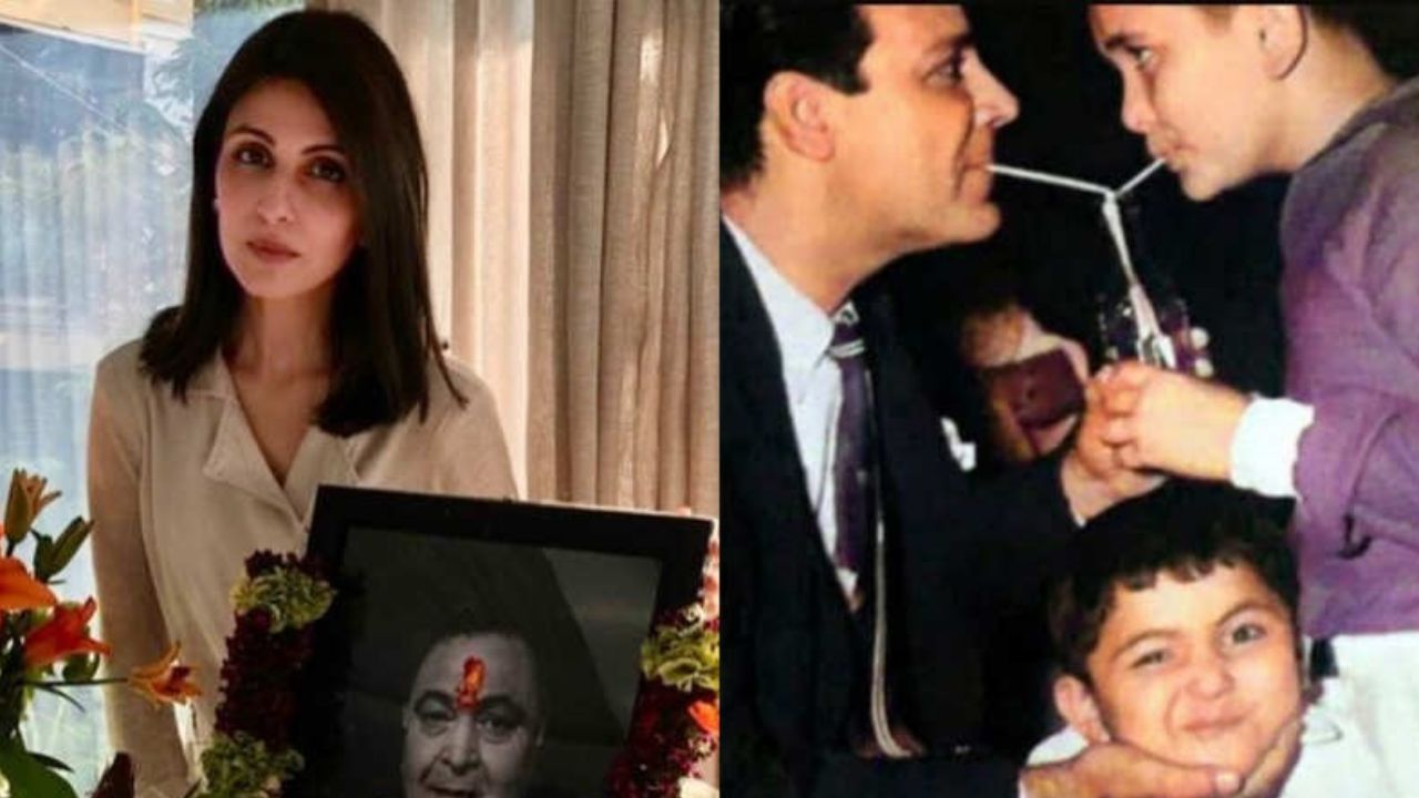 Riddhima Kapoor Sahani shares UNSEEN childhood picture of Rishi Kapoor