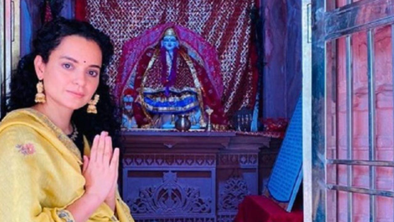 Kangana Ranaut visits her Kuldevi temple in Mandi