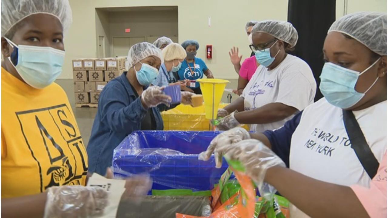 More than 200,000 meals packed for North Texas Food Bank remembering 9/11 attack