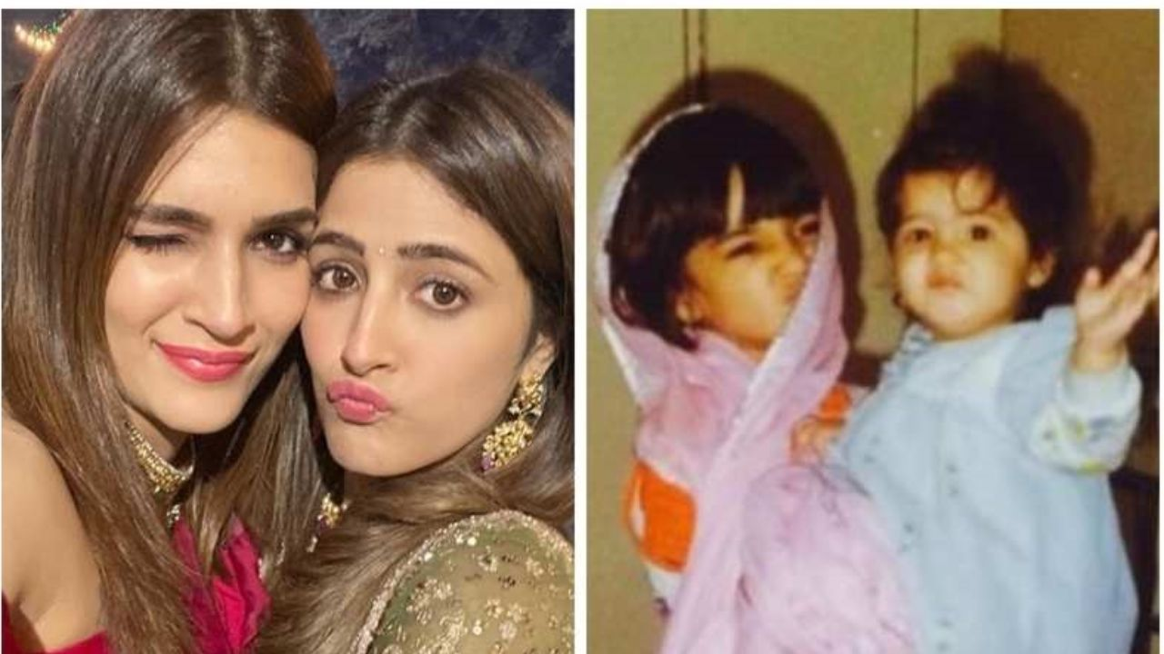 Nupur Sanon wishes her sister Kriti Sanon on her birthday; says she absolutely adores her