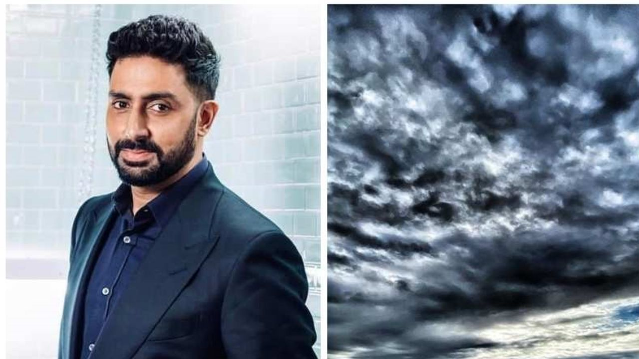 Abhishek Bachchan battling Covid-19 shares a picture of the cloudy sky