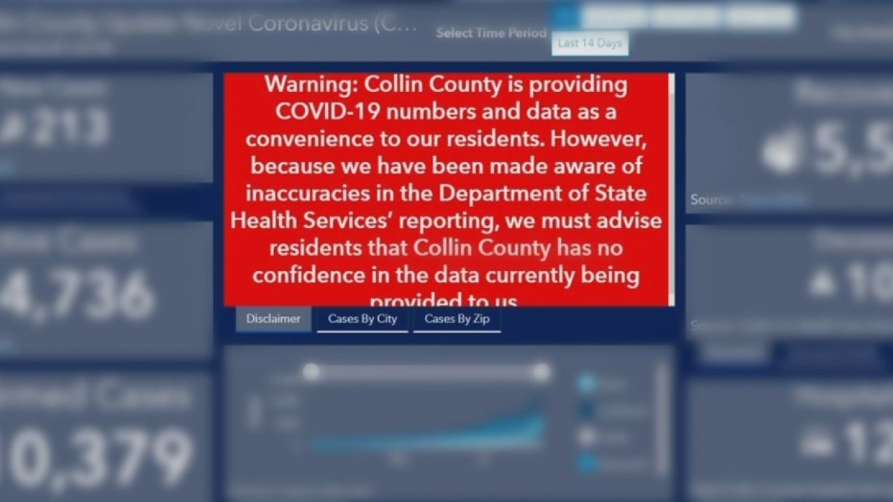 Collin County tells residents to not believe the coronavirus case numbers it is reporting