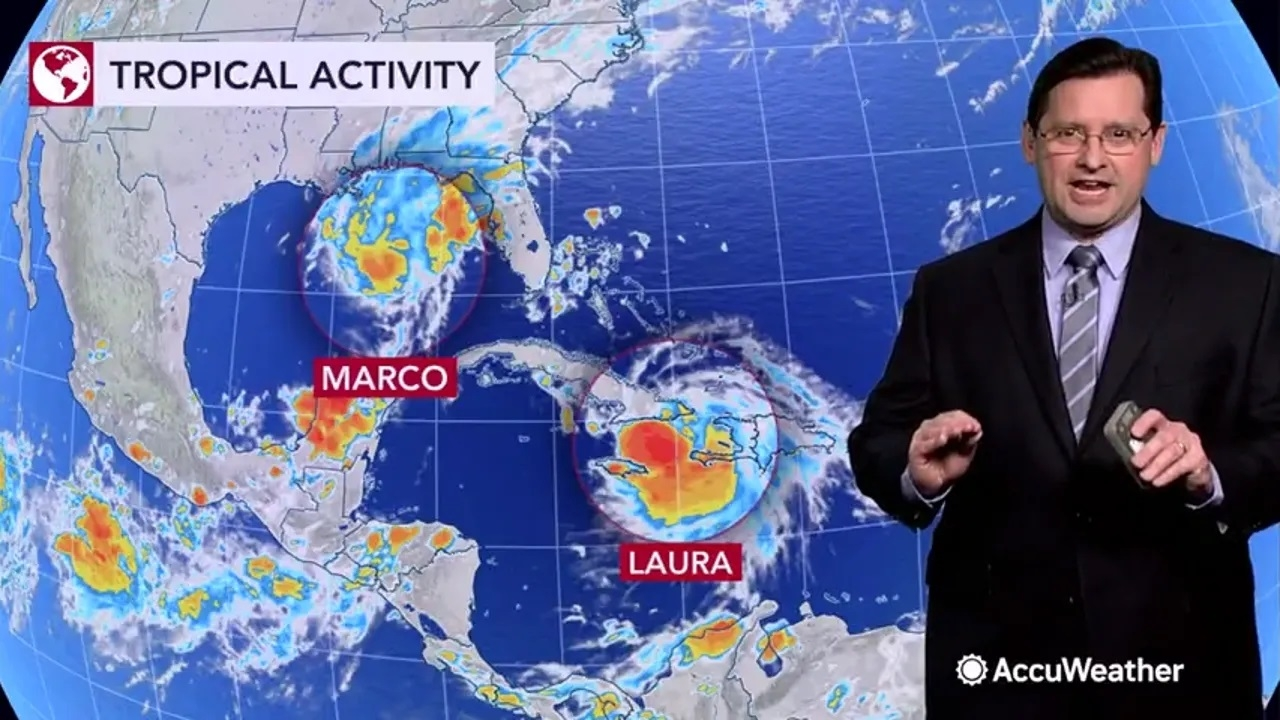Tropical Storm Marco moves closer to Gulf Coast as Laura, the 'main attraction'