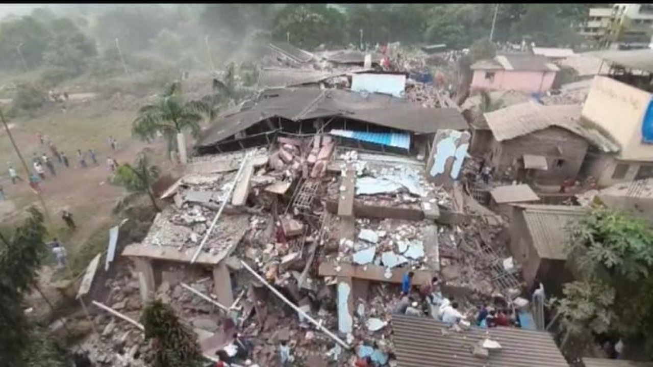 A 5-Storey building in Raigad collapse 1 dead, 7 injured, 70 feared trapped as rescue ops continue