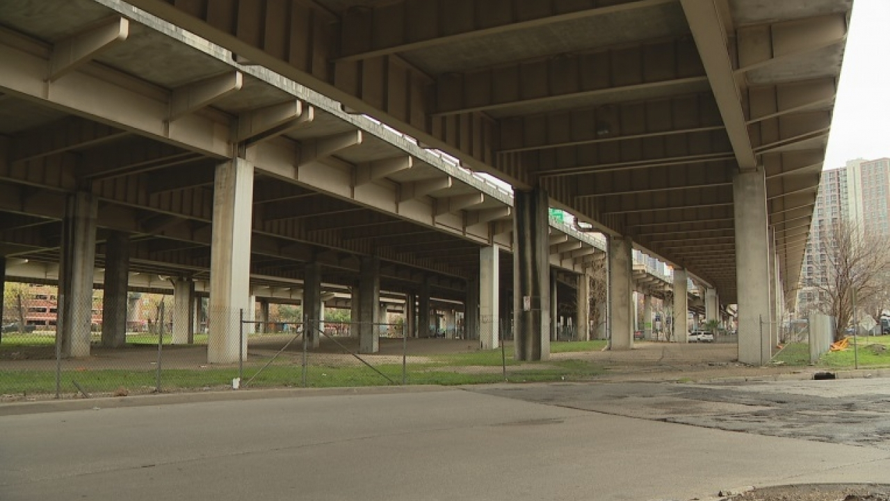Dallas city council denied proposal to put soccer fields under I 345 in Deep Ellum