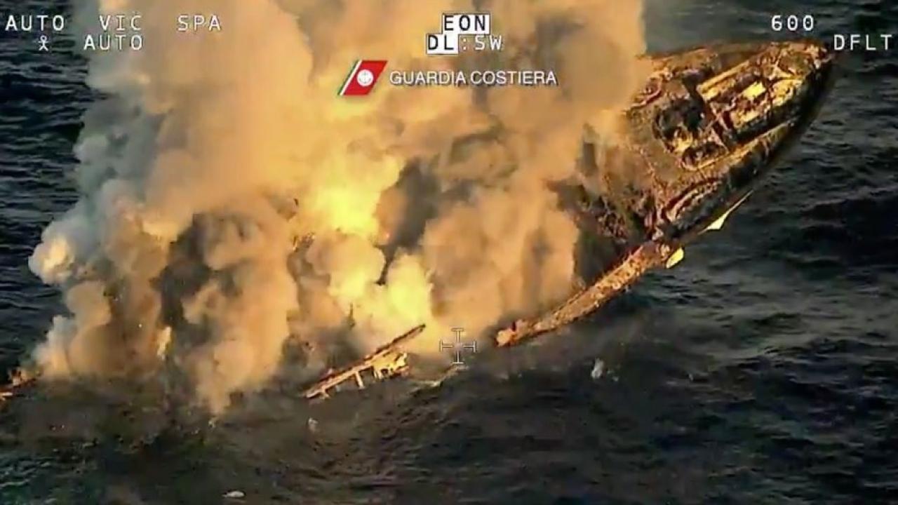 A Luxury yacht sank in the Mediterranean Sea