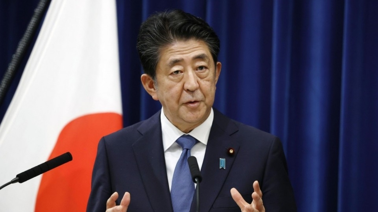 Japanese Prime Minister Shinzo Abe resigns because a chronic illness