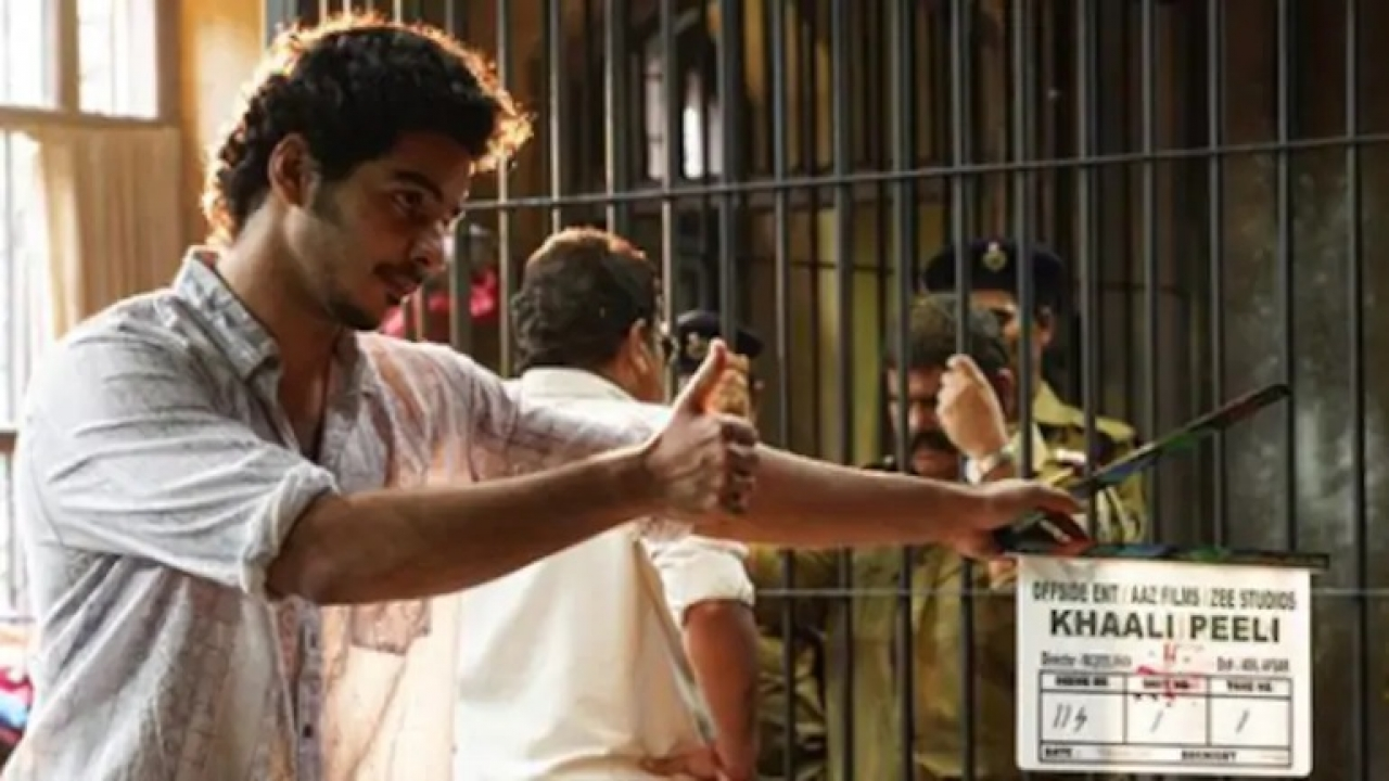 Ishaan Khatter shares a cool BTS photo from the first day of 'Khaali Peeli'  shoot