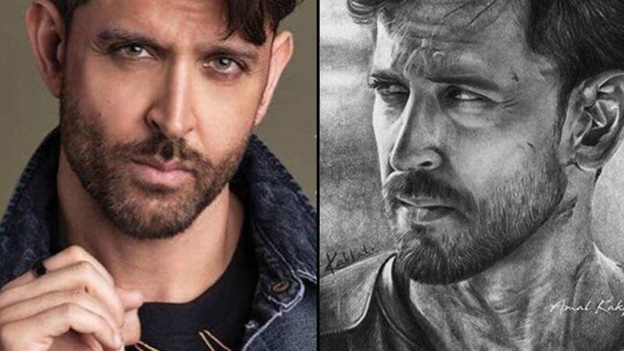 Hrithik Roshan carried away by fan's hyper-realistic pencil sketch; 'Thank you for the love,' says the actor