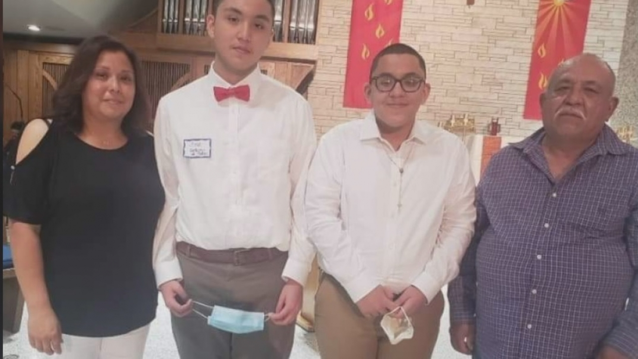 Community supports Tarrant County Middle School Student who lost father to COVID-19