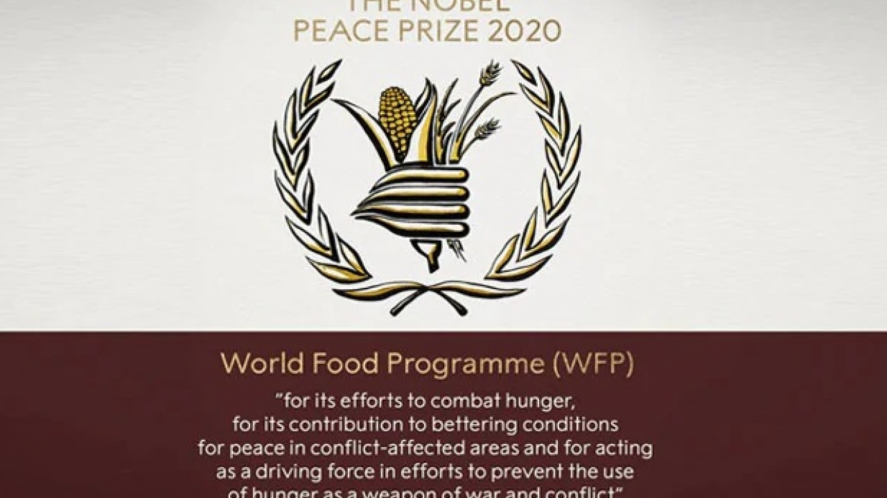 World Food Program awarded the Nobel Peace Prize