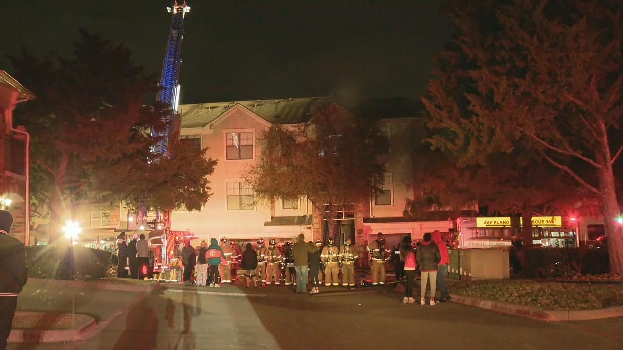 Plano Apartment complex catches fire