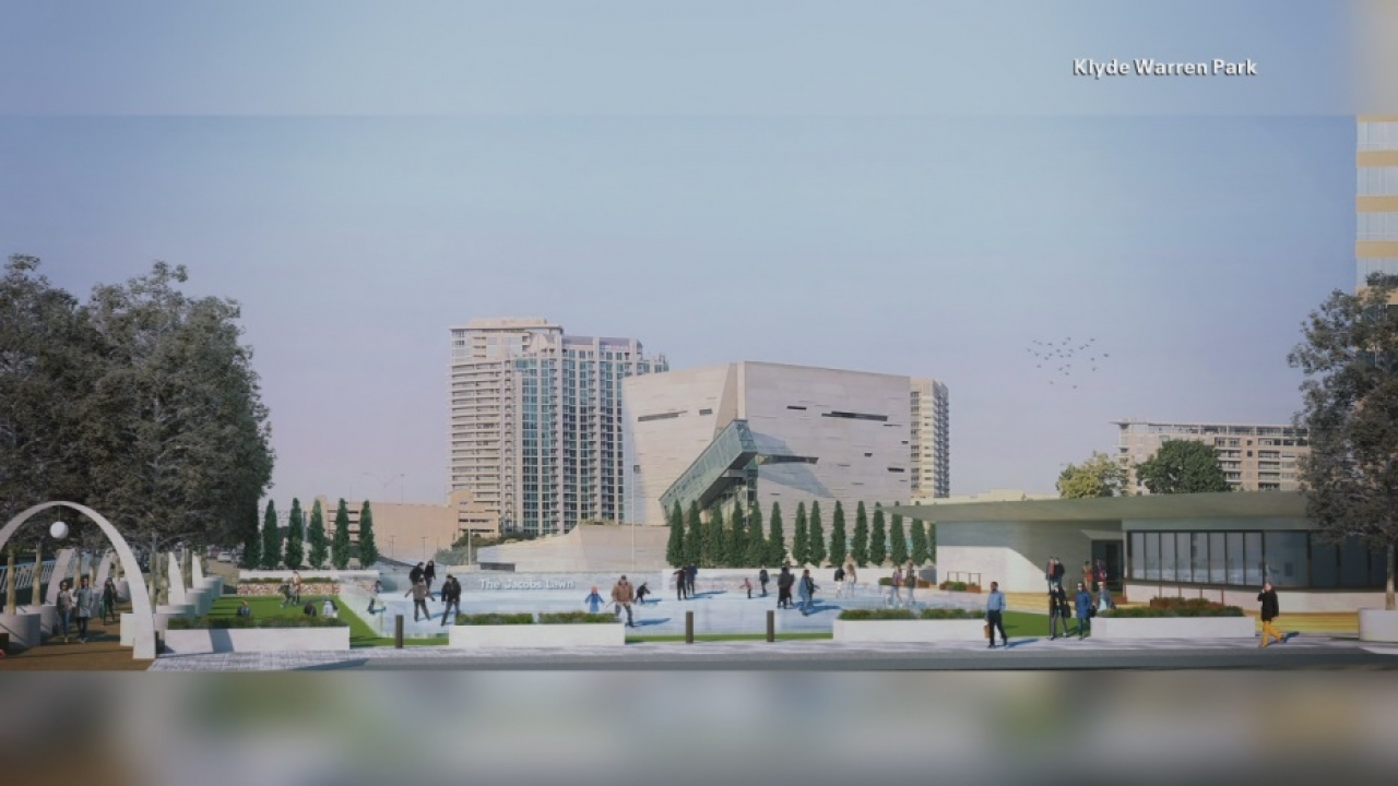 Klyde Warren Park to come up with a Seasonal ice rink as a part of the expansion project.