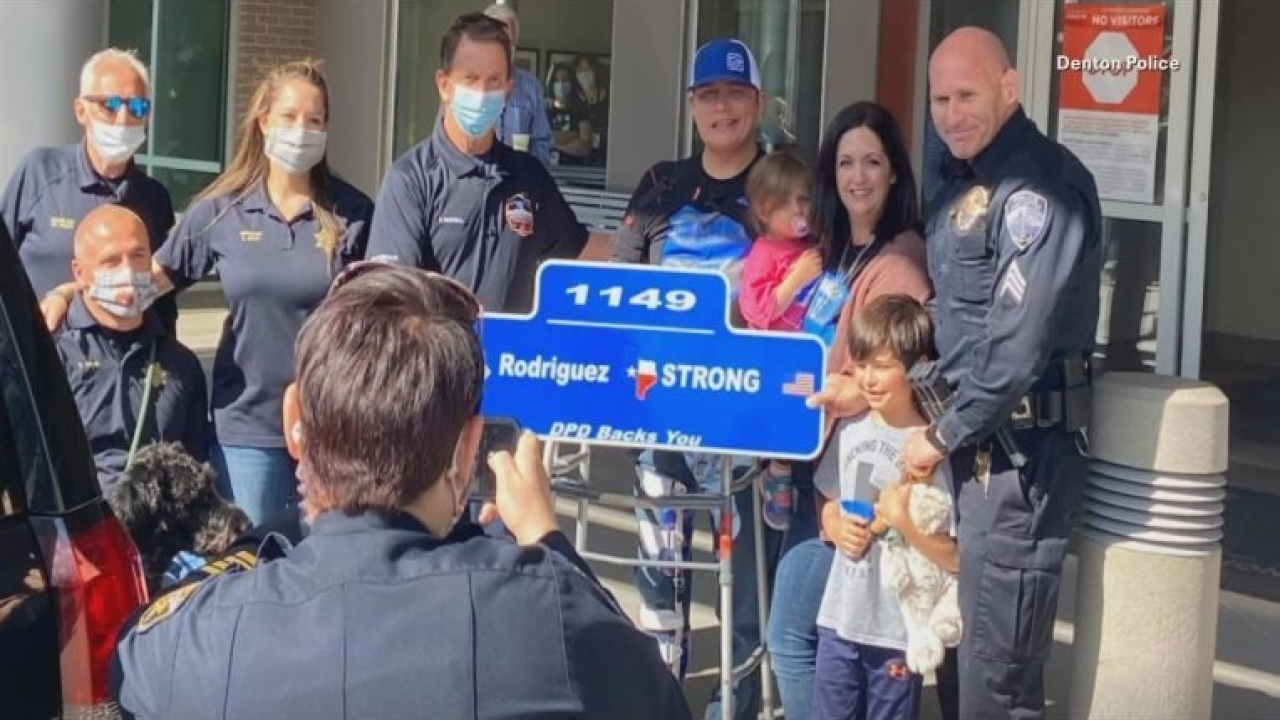 Denton police officer to be honored who survived after being shot in the line of duty