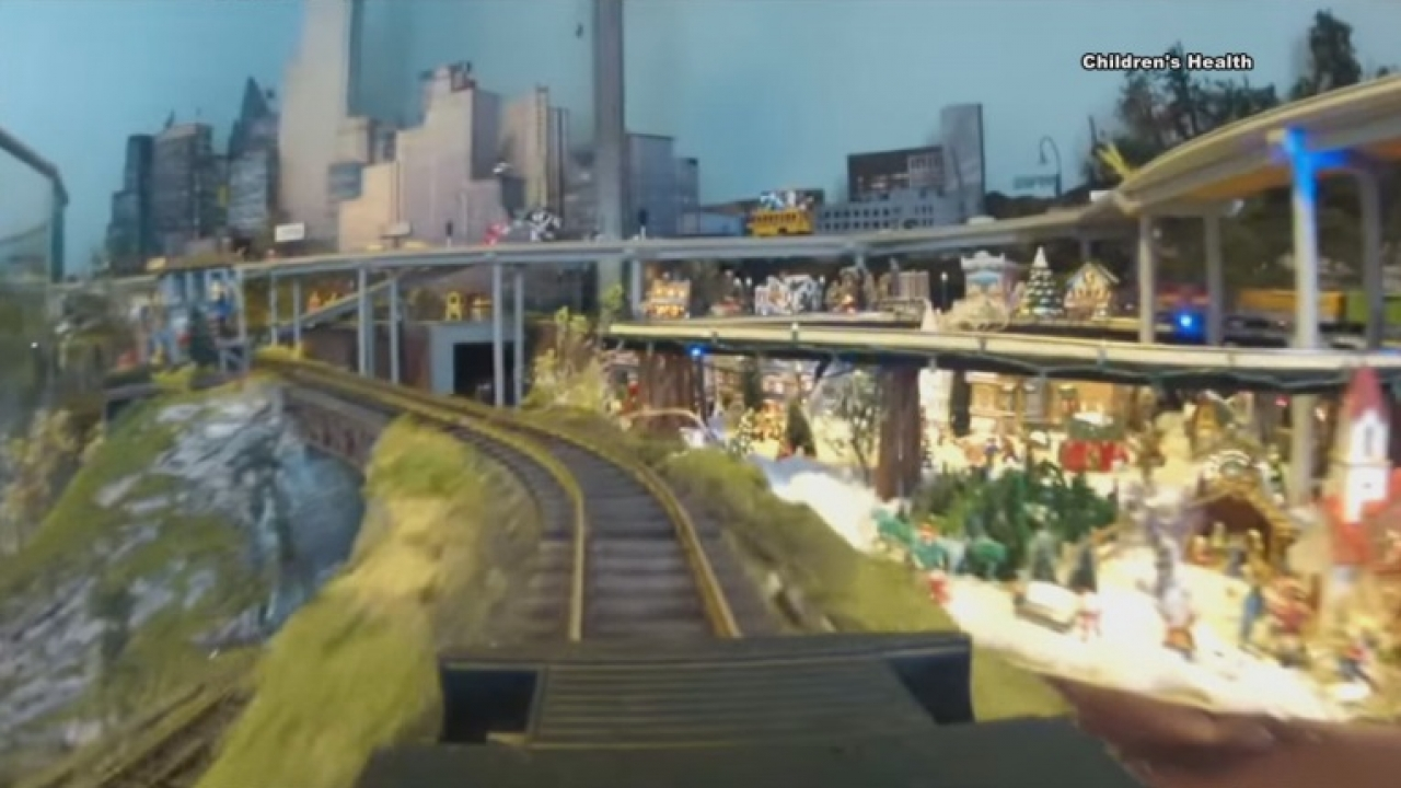 Children's Medical Center Dallas removes the display of trainscape