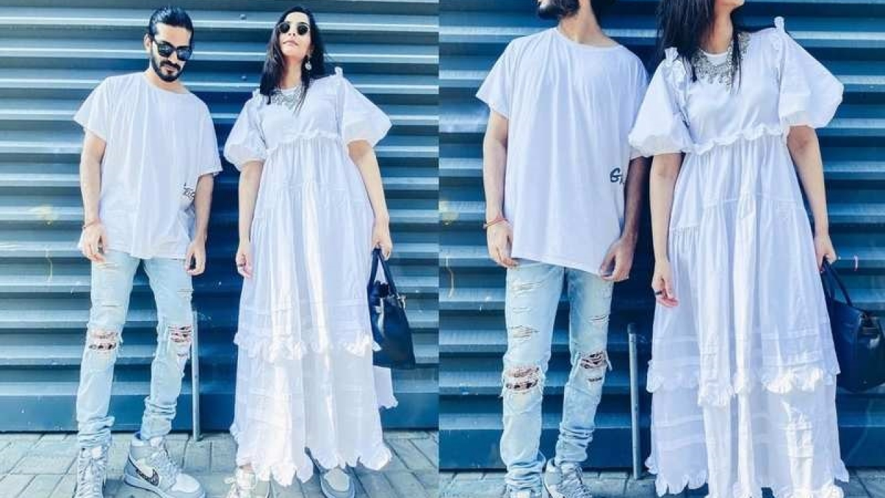 Sonam Kapoor looks stunning as she twins with brother Harshvardhan Kapoor in white
