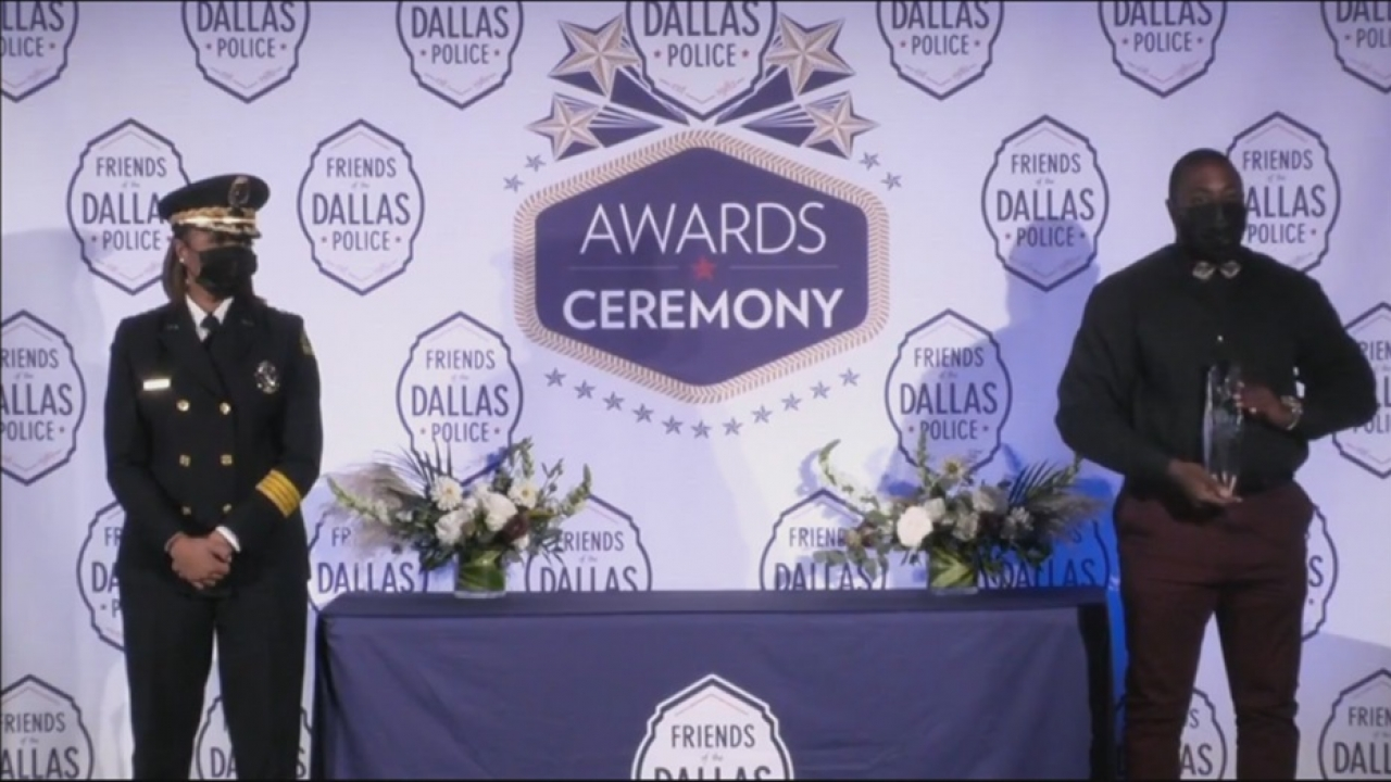Dallas officer Aaron Rucker who responds to mental health calls named Officer of the Year