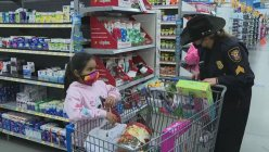 Kids get Christmas presents. A Big thanks to Fort Worth PD's Shop with a Cop