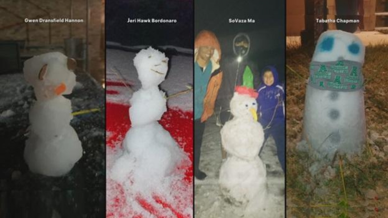 Some of the west of Fort Worth areas blanketed with snowfall on New Year's eve