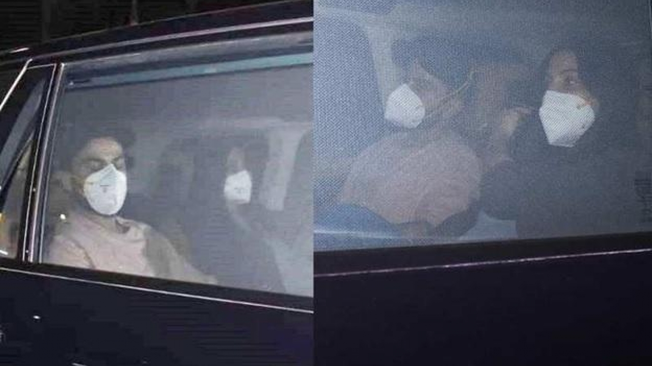 Anushka Sharma and Virat Kohli snapped while returning to their house after visiting her mother's residence in the city
