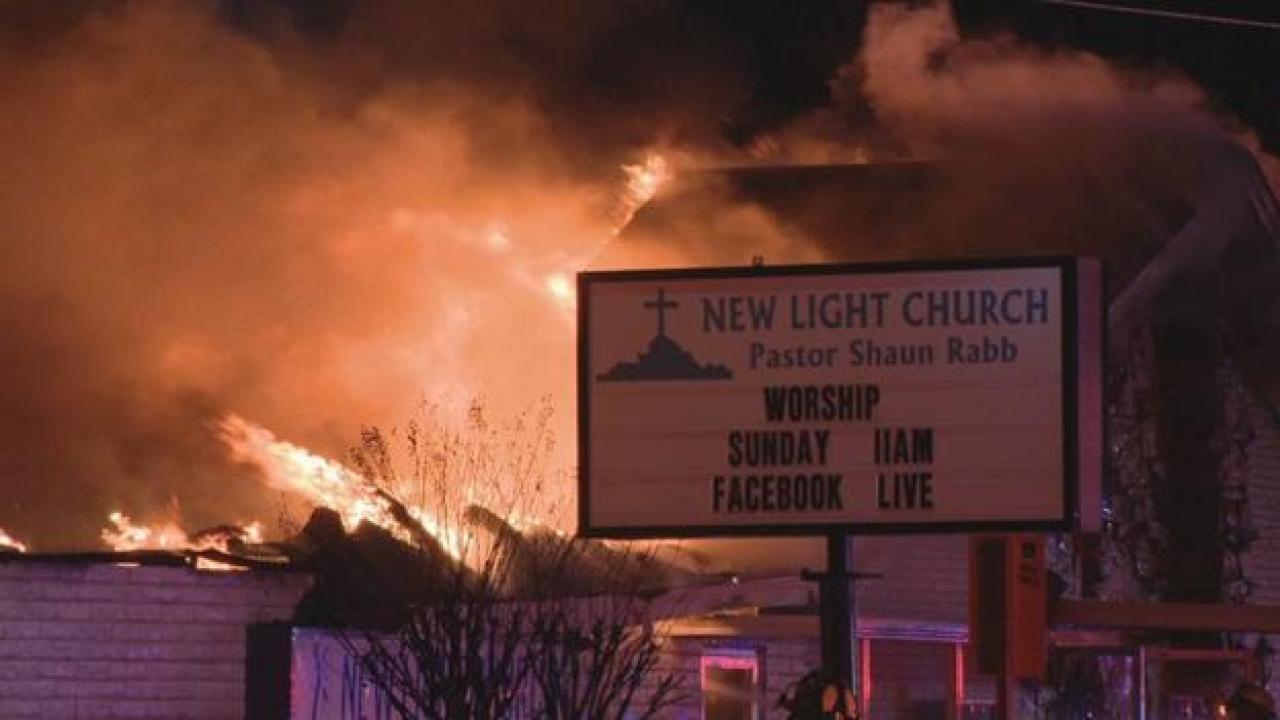 A fire broke out in Pleasant Grove Church in Dallas