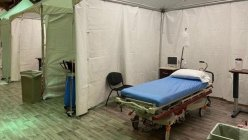 Plano-based Hospital set up tents in its lobby to deal with non-COVID patients