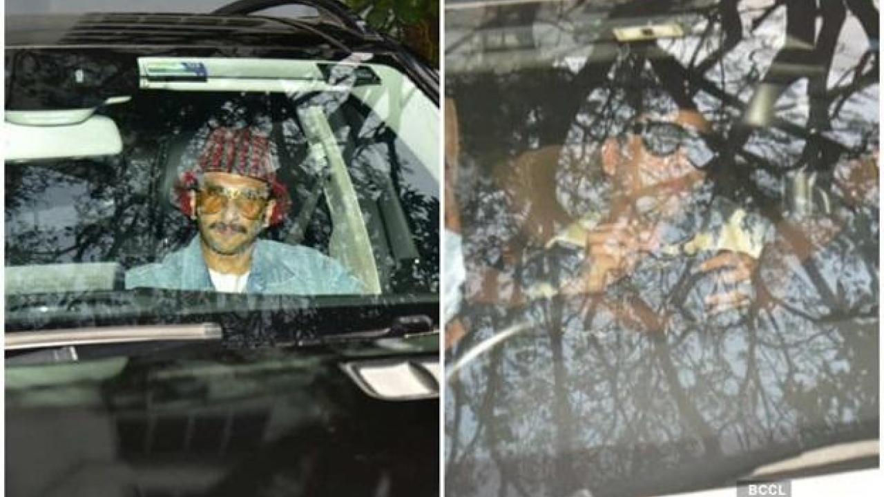 Ranveer Singh and Karan Johar snapped outside Alia Bhatt's residence