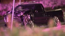 Officers searching for the driver who fled the scene of  a double fatal crash in Dallas